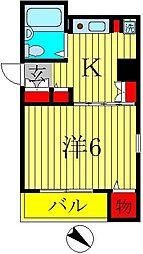ブライトン北松戸[2階]の間取り
