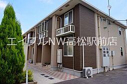 香川県高松市上林町の賃貸アパートの外観
