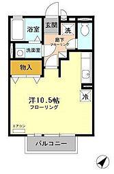 静岡県富士市依田原町の賃貸アパートの間取り