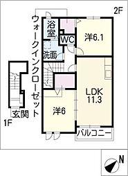 フィオーレ II棟[2階]の間取り