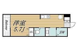 JR総武線 千葉駅 徒歩20分の賃貸アパート 2階ワンルームの間取り