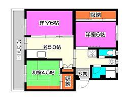 ビレッジハウス所沢II[3階]の間取り