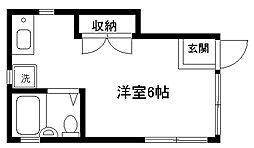 パルハウス東神奈川[101号室]の間取り