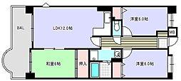 シティパル桜川[4階]の間取り