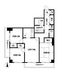 ベルテ桜[3階]の間取り