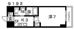 casa vera luce(カサベラルーチェ)[507号室号室]の間取り