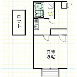 メゾンMI[203号室]の間取り