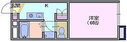 レオパレス 秋桜[106号室]の間取り