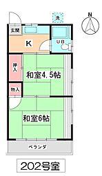 杉崎アパート[202号室号室]の間取り