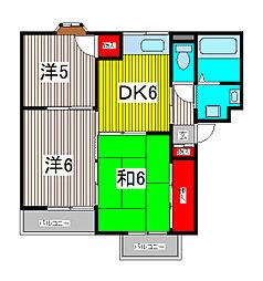 サンパーク816[206号室]の間取り