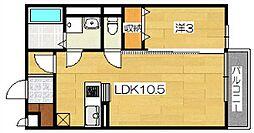 レーベングロースK[2階]の間取り