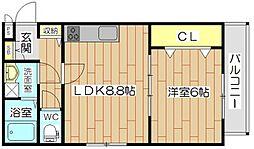 フェリーチェ芥川[2階]の間取り
