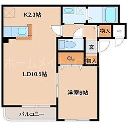 ラ・エルマーナ東札幌[2階]の間取り