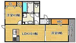 レオンガーデン[305号室]の間取り