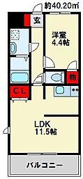 MDIカーサラヴァンダ黒崎[3階]の間取り