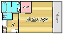東京都江戸川区中葛西2丁目の賃貸アパートの間取り