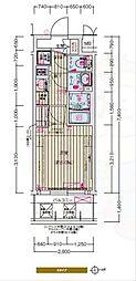 Osaka Metro千日前線 日本橋駅 徒歩7分の賃貸マンション 3階1Kの間取り