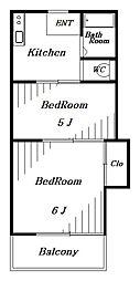 チェリーハイム稲毛[2階]の間取り
