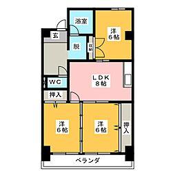 メゾン大和[4階]の間取り