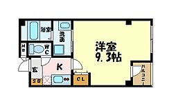 名古屋市営名城線 上前津駅 徒歩6分の賃貸マンション 2階1Kの間取り