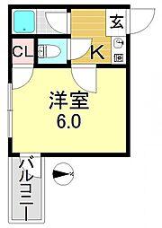 平野ビレッジPARTIII[4階]の間取り