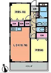川福マンション[2階]の間取り