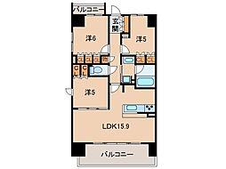 シャルマンフジ和歌山駅前グランピーク211号[2階]の間取り