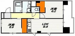 IL ROSSO堀川六角[7階]の間取り