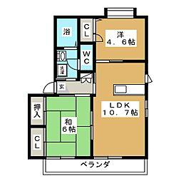 シャーメゾン操山[2階]の間取り