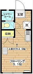 東京都豊島区要町1丁目の賃貸アパートの間取り