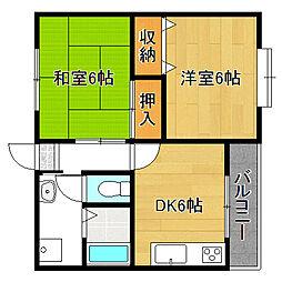サンシャイン安田[2階]の間取り