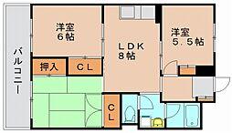 第1岡部ビル[4階]の間取り
