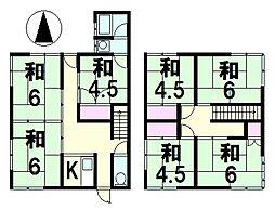 [一戸建] 滋賀県草津市上笠3丁目 の賃貸【/】の間取り