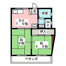 アーバン富士見[3階]の間取り
