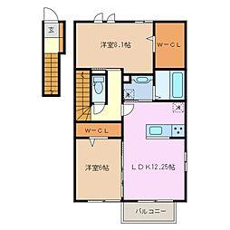 仮)D-room大井手[2階]の間取り