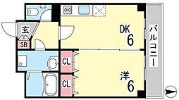 田中ハウス[101号室]の間取り