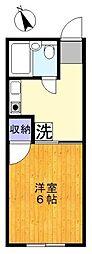 サンフラッツ東久留米B棟[2階]の間取り