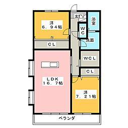 アムラートハウス B[1階]の間取り