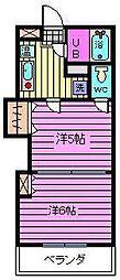 レジデンスカープ大宮[4階]の間取り