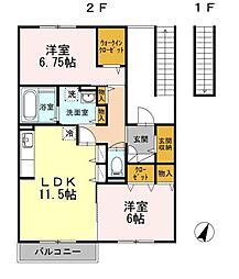Cozy Court 湘南[2階]の間取り