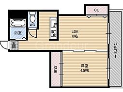 メゾン中央[4階]の間取り