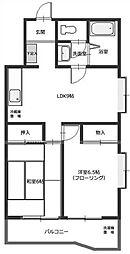 わらび中央パークマンション蕨中央3丁目[2階]の間取り