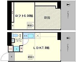 是空NANBANISHI[601号室]の間取り