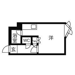 メゾンブロンシュ[4階]の間取り