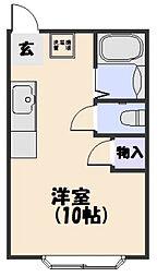 コーポ大翔[302号室]の間取り