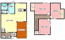 [テラスハウス] 静岡県浜松市東区半田山3丁目 の賃貸【/】の間取り