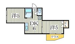 エメラルドハイム平和台[1階]の間取り