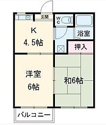 ハイツニシノ[2階]の間取り