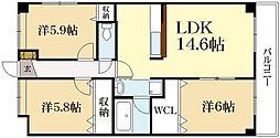 コンフォート下鴨[1階]の間取り