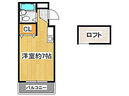 JPアパートメント生野III[3階]の間取り